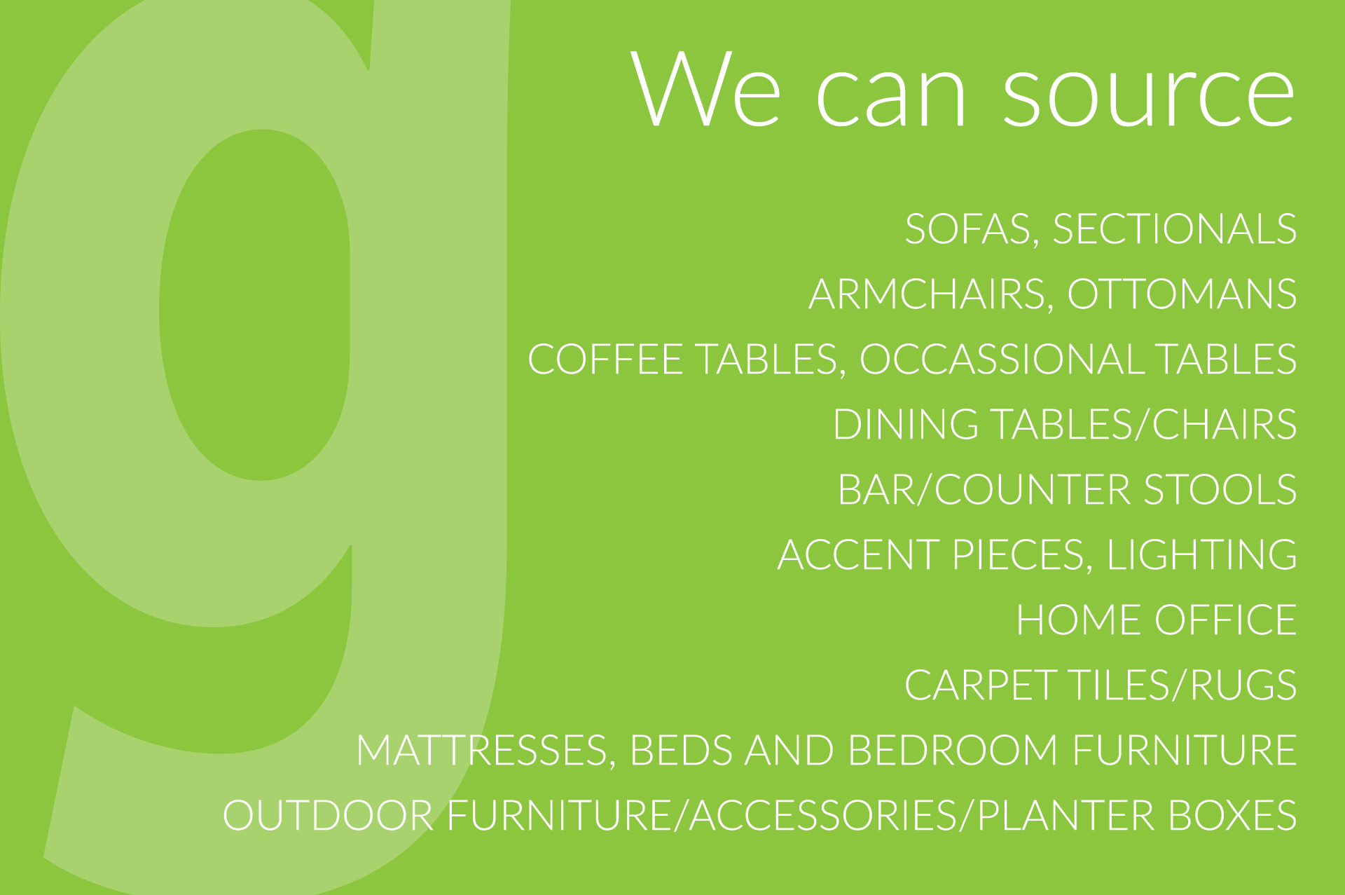 Wholesale Furniture Resource in White Rock/South Surrey